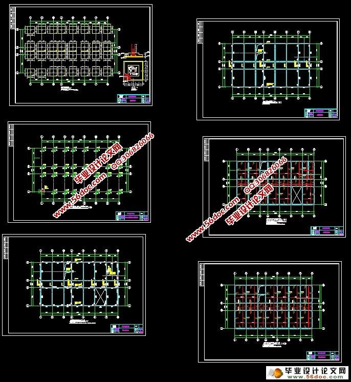 层3500平米医院门诊楼设计 建筑图,结构图,总平面图