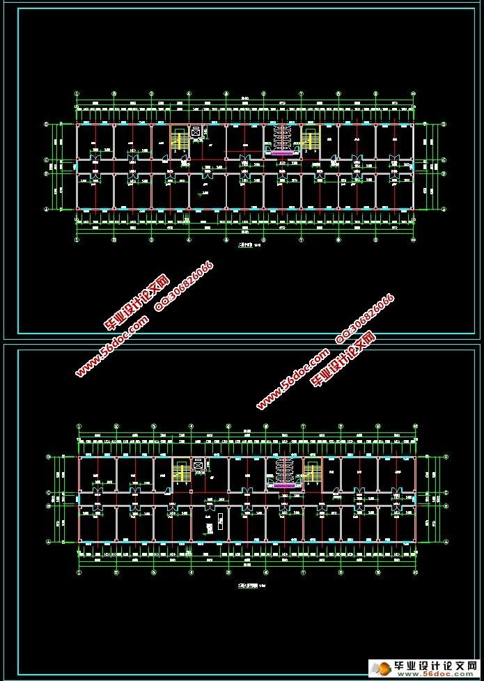 六层5400平米铜陵市某办公楼结构设计 建筑图,结构图
