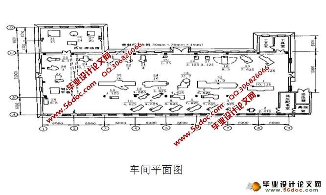 某机修厂机械加工车间低压配电系统及车间变电所设计图片