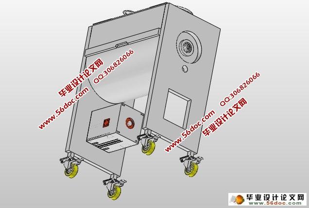 品加工机械 含CAD图,SolidWorks三维图片