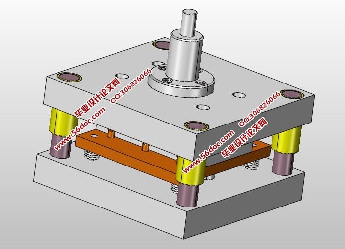 减震制图零件模具设计(含CAD图,SolidWorks,把怎样cad放大冲压的图片